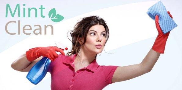 -50% на уборку, мытье окон от клининговой компании Mint Clean