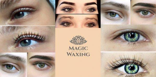 -90% на брови и ресницы в студии Magic Waxing